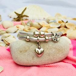 Bracelet 2 tours cuir...