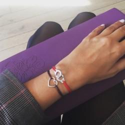 Bracelet cordon Menottes Rouge