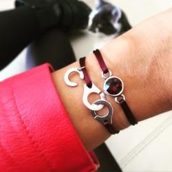 Bracelet cordon Swarovski...