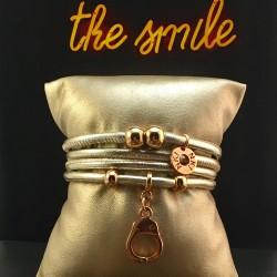 Bracelet 4 tours cuir...