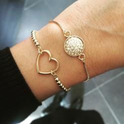 Bracelet chaînette gold...