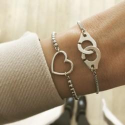 Bracelet chaînette perles...