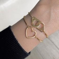 Bracelet chaînette gold Coeur