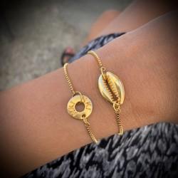 Bracelet chaînette Coquillage