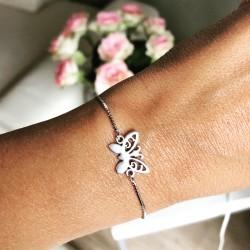 Bracelet chaînette argentée...