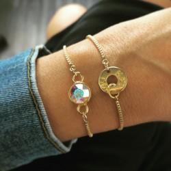 Bracelet chaînette Swarovski
