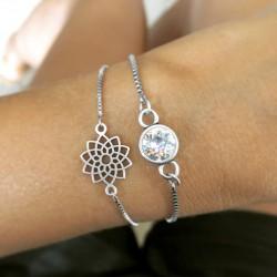 Bracelets Chaînette Fleur