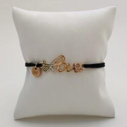 Bracelet cordon Love - Rose...