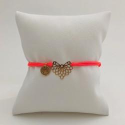 Bracelet cordon Papillon -...