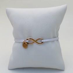 Bracelet cordon Infini Rose...